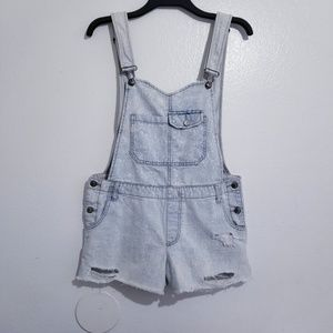 Free people acid wash overalls